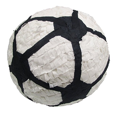 Soccer Ball Pinata, 12'' Party Game, Centerpiece Decoration and Photo Prop by Pinatas