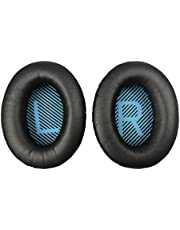 Replacement Ear Pads Earpads for Bose QuietComfort QC 2 15 25 35 Ear Cushion for QC2 QC15 QC25 QC35 SoundLink SoundTrue Around-Ear II AE2 (Black)