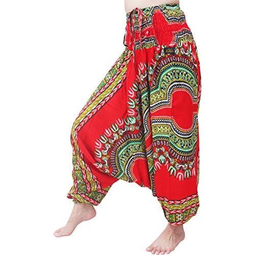 RaanPahMuang Printed Light Summer Cotton Childrens Baggy Elastic Waist Pants