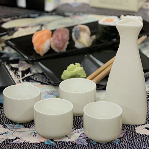 White Ceramic Sake Serving Carafe