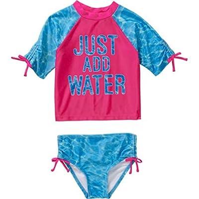 OP Baby Toddler Girl 2-piece Swimwear Rashguard Set