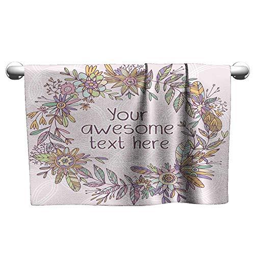 Tankcsard Valentines Gorgeous Floral Wreath,Shammy Towel for -