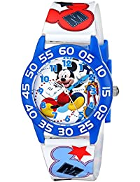 Kids' W001659 Mickey Mouse Plastic Watch, Printed Band