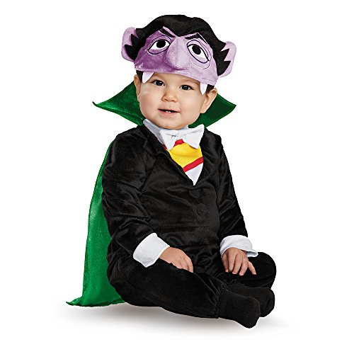 Disguise Baby Boys' Count Deluxe Infant Costume, Multi, 12-18 Months -
