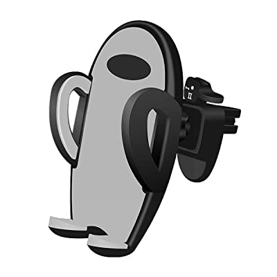 Uhomely Car Cell Phone Air Vent Holder with One Button Release, 360 Degree Rotation Adjustable Car Cradle for iPhone XR/Xs/XS Max/X/8/8+/7/7+/6/6+/6S/6S+ Galaxy A10/S9/S8/S7 Pixel 4 3a and More