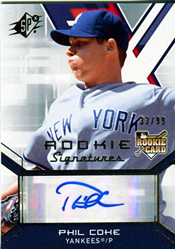 Phil Coke Autographed 2009 Upper Deck SP Rookie Signature...