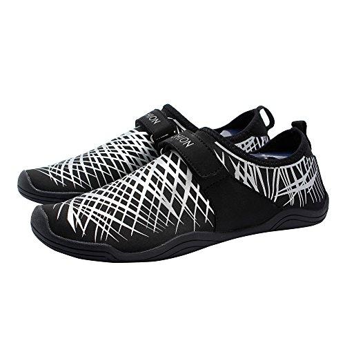 Amawei Femmes Plage Chaussures Pieds Nus Séchage Rapide Aqua Sports Nautiques Chaussures Dargent
