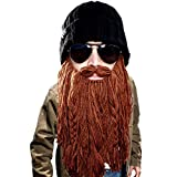 Beard Head - The Original Barbarian Roadie Knit Beard Hat (Brown)