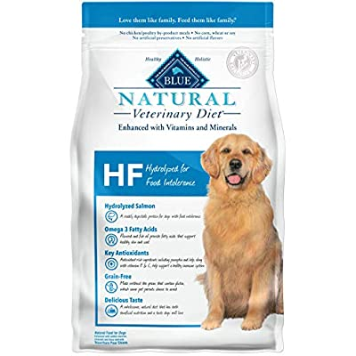 Blue Buffalo Blue Natural Veterinary Diet HF Hydrolyzed for Food Intolerance Dry Dog Food 6 lb
