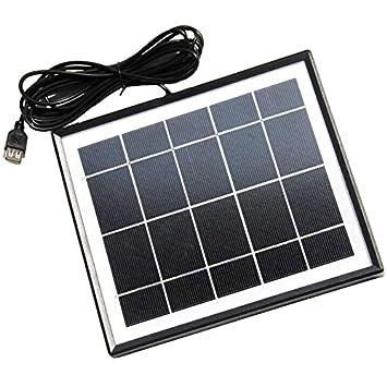 TOOGOO 5.5W Cargador Solar para Teléfonos Móviles + Salida ...