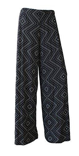 Palazzo F4u ® Pantalon Pour Diamant Palais Jambe Parellel Large Évasée Mesdames Femme Imprimé RfARq