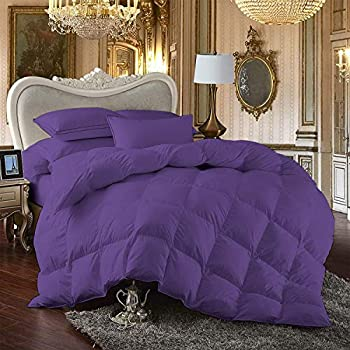 Image of Angel Bedding Kooton King 800 Thread Count Oversized Super King Size Goose Down Comforter 100% Egyptian Cotton Purple