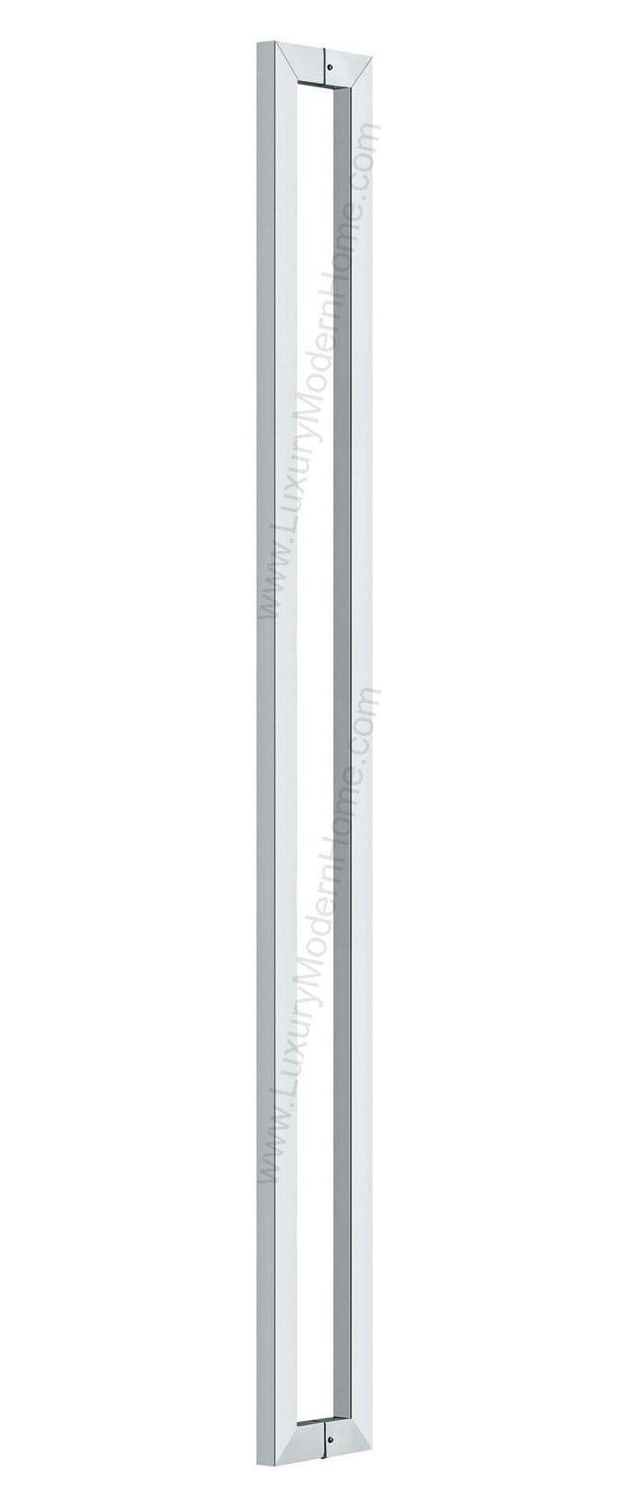 dh - 36'' Rectangular Tube Pull Shower Door Handle Square Stainless Steel 304