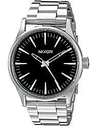Nixon Mens A450000 Sentry 38 SS Analog Display Japanese Quartz Silver Watch