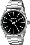 Nixon Men's A450000 Sentry 38 SS Analog Display Japanese Quartz Silver Watch