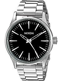 Nixon Men's A450000 Sentry 38 SS Analog Display Japanese Quartz Silver Watch