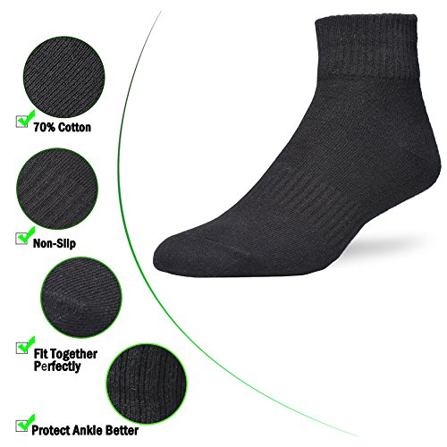 Atist 6 Pack Size 6 15 (70% Cotton) Ankle Black&White Socks For Men and Women