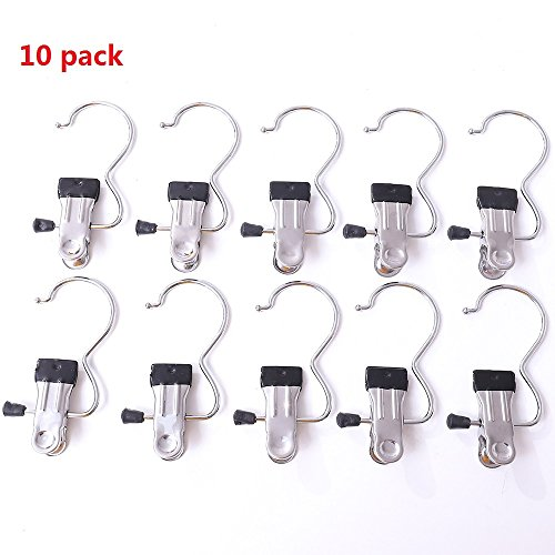 Single Clips Rack Hanging Clothes Metal Clamp Indoor and Out