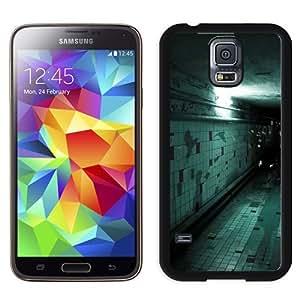 NEW Unique Custom Designed Samsung Galaxy S5 I9600 G900a G900v G900p G900t G900w Phone Case With Spooky Corridor Wall Tile Flying Halloween_Black Phone Case