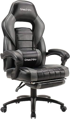 Big Tall High Back PU Leather Swivel Gaming Chair