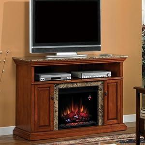 Amazon.com: Brighton 56-inch Electric Fireplace Media Console ...