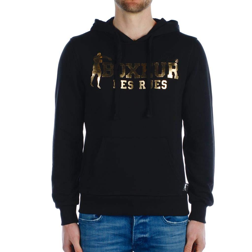 BOXEUR DES RUES Herren Bxe-4858j Basic-Sweatshirt Mit Kapuze