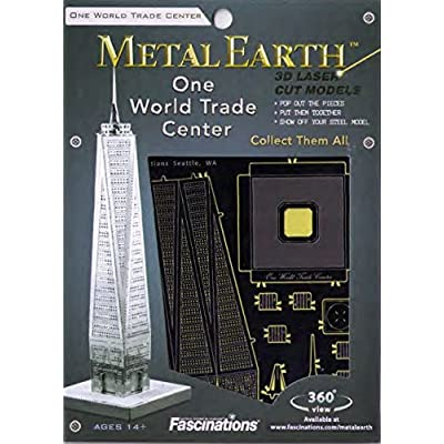 Fascinations Metal Earth One World Trade Center Building 3D Metal Model Kit: Toys & Games