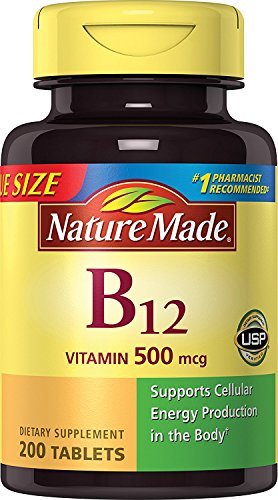 Nature Made Vitamin B12 500 mcg. Tablets Value Size 200 Ct