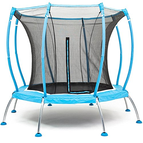 SkyBound Atmos 8 ft Trampoline with Full Enclosure Net...