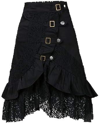ZhuikunA Mujeres Tallas Grandes Falda de Tablas Larga con Cintura ...