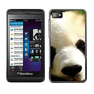 Paccase / SLIM PC / Aliminium Casa Carcasa Funda Case Cover para - Panda Japanese Cute Animal Furry Muzzle - Blackberry Z10