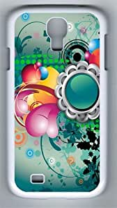 Abstract Art Flowers Color Pattern PC Hard Case Cover For Samsung Galaxy S4 SIV I9500 Case and Cover White