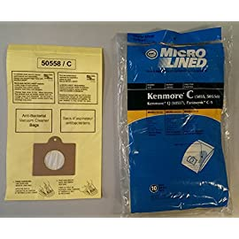 DVC 20 Kenmore Style C & Style Q 5055 50557 50558 Micro Lined Canister Vacuum Bags. Also Fits Panasonic C-5, C-18 (Basic… 1 Fits Kenmore Canisters made in the Last 20 Years Including Whispertone, Intuition, Elite and Progressive; Also will fit Panasonic C-5 replace Kenmore part numbers; 5055, 50557, 50558, 20-50104, 50104, 54321, 20-54321, 53292, 631396, 20-53291, 53291, 20-53290, 53290, KM48751-12. Also fits the HEPA Cloth Kenmore Style Q bags. IDEAL FOR ASTHMA & ALLERGY SUFFERERS, HOMES WITH BREATHING ISSUES. Designed to fit Kenmore Canister models 23040, 23243, 23350, 24320, 24321, 24325, 24326, 24327, 24350, 24390, 24410, 24971, 24975, 24981, 24991, 25430, 2621, 26312, 26320, 26325, 26355, 26390, 26395, 26410, 26413, 26430, 26435, 26450, 26455, 27514, 27515, 27614, 27615, 27814, 27815, 27914, 27915, 28014 and 28015 Canister models.