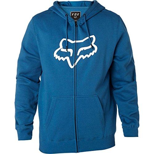 Fox Men's Standard Fit Legacy Logo Zip Hooded Sweatshirt, Dusty Blue, XXL