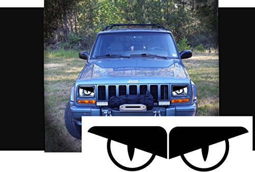 Angry Eyes Snake Eyes Headlight Decal L & R (Translucent Headlight Decal)