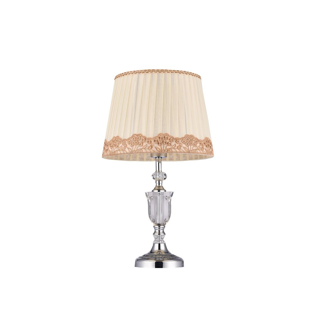 Briskaari Store- Modern Crystal Lamp Lighting Bedroom Bedside Lamp Luxury Crystal Desk Lamp with Cloth Lamp Shade by Briskaari Store (Image #1)