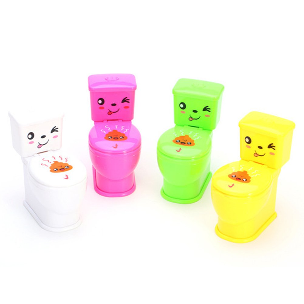 BrawljRORty Novelty & Gag Toys, Spoof Gadgets Toys Mini Prank Squirt Spray Water Toilet Closestool Joke Toy Gift