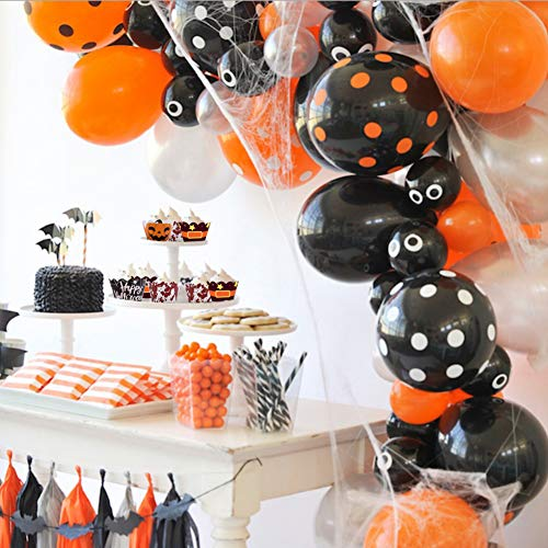 BigOtters Halloween Cupcake Wrappers, 48 Sets with Toppers Pumpkin Spider Witch's Boot Bloody Halloween Decor Party Supplies
