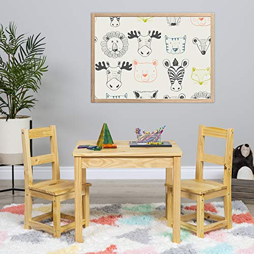 Best Choice Products 3-Piece Kids Multipurpose Wooden Activity Table Furniture Set for Bedroom, Play Room w/ 2 Chairs