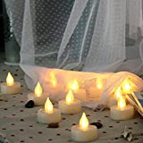 Candle Choice 6 PCS Flameless Candles, Flameless Tealights, Flameless Votives, Battery Operated Candles with Remote, Long Battery Life CR2450 Batteries Included (Tea Lights, Cream White)