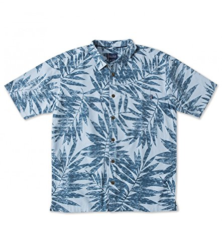 O'Neill Mens Jack O'Neill Panama Button Up Short-Sleeve Shirt Large Light Blue
