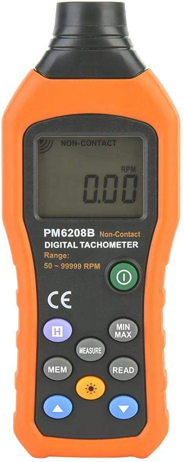 PM6208B with LCD Display Digital Speed Detector is One of The Necessary Instruments in The Machinery Industry to Measure The Speed Line Speed or Frequency of The Motor Zerone Tachometer