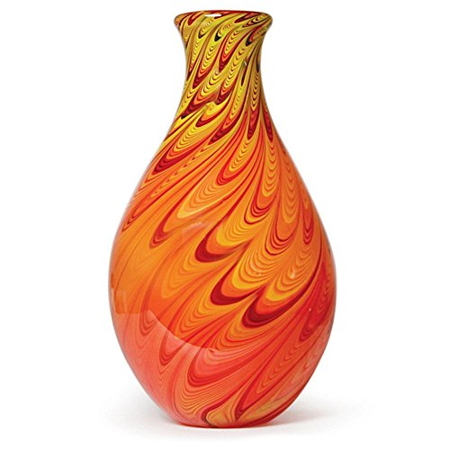 Handmade Glass Feather Vase - 14