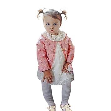 eeaebe3ccb2a7 Aliciga ニット カーディガン 子供服 セーター 無地 Oネック 長袖 ポンポン スクール 学生 男の子 女の子 兼用