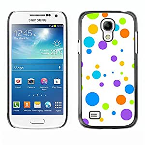 Jordan Colourful Shop - Dots Happy Colorful White Art For Samsung Galaxy S4 Mini i9190 Personalizado negro cubierta de la caja de pl????stico