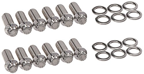 - ARP 4001209 Header Bolts With 12-Point Heads, Polished Stainless Steel, Set Of 12