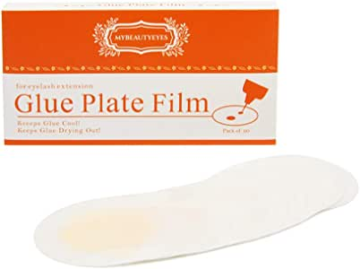 Glue Plate Film for Eyelash Extension/Increase glue working time/Easy to attach and remove/Pack of 60 (1 BOX)