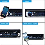 Wikoo Car Stereo with Bluetooth, In-Dash Single Din Car Audio Stereo Receiver, Remote Control Car Radio Receiver, MP3/WMA Player, USB/SD Card/AUX Wireless Remote Control Digital Media Receiver