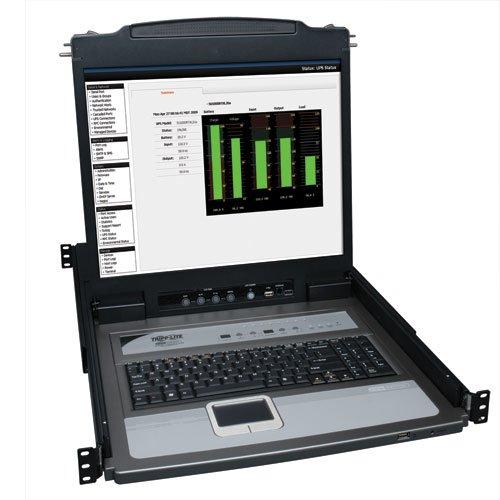Tripp Lite 8-Port Rack Console KVM Switch 19-Inch LCD PS2/USB Cable 1U TAA/GSA