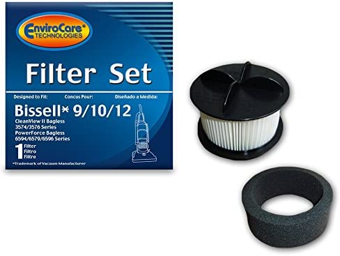 For Bissell 32R9 Upright Vacuum HEPA Filter Kit Bissell 9,10,12,16 2 Belts
